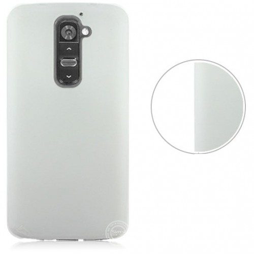 Пластиковый полупрозрачный чехол для LG Optimus G2 Голубой