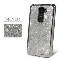 Чехол пластиковый со стразами серия Total Luxury для LG Optimus G2 Белый