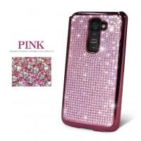 Чехол пластиковый со стразами серия Total Luxury для LG Optimus G2 Розовый