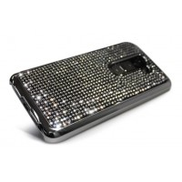 Чехол пластиковый со стразами серия Total Luxury для LG Optimus G2 Черный
