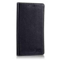 Кожаный чехол портмоне подставка (нат. кожа) для LG G Flex Черный