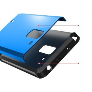Силиконовый премиум чехол с поликарбонатной крышкой для LG G Pro 2