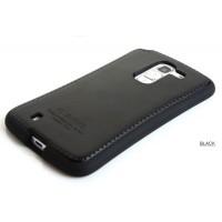 Чехол силиконовый премиум серия Leather Stitch Pretender для Lg G Pro 2 Черный