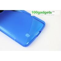 Силиконовый чехол S для LG Optimus G2 mini Голубой