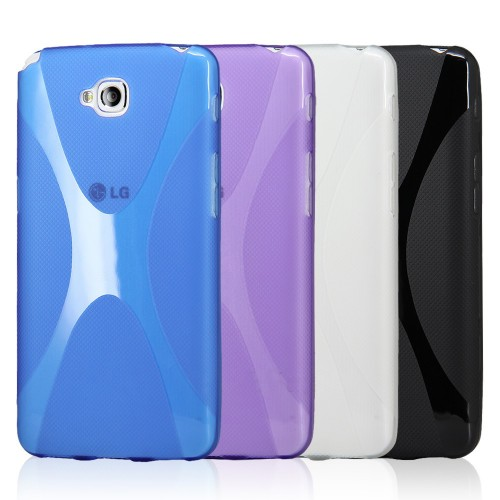 Силиконовый чехол X для LG G Pro Lite Dual Фиолетовый