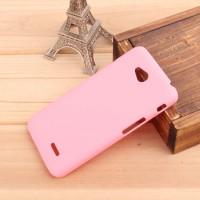 Пластиковый чехол для LG L70 Розовый