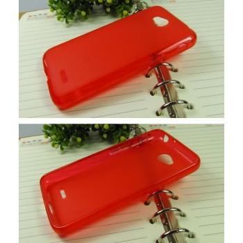 Силиконовый матовый полупрозрачный чехол для LG L70 Красный