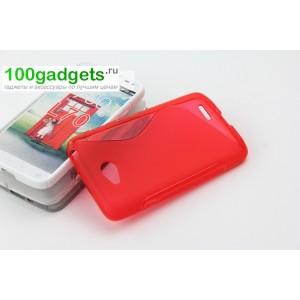 Силиконовый чехол S для LG L70 Красный