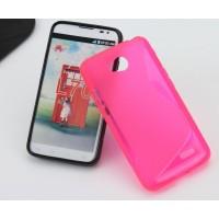 Силиконовый чехол S для LG L70 Розовый