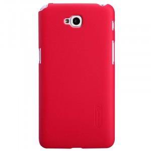 Пластиковый матовый премиум чехол для LG L90 Красный