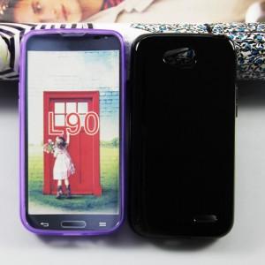 Силиконовый чехол для LG L90 Черный