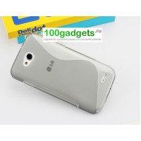 Силиконовый чехол S для LG L90 Серый