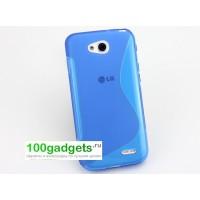 Силиконовый чехол S для LG L90 Голубой