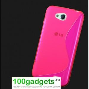 Силиконовый чехол S для LG L90 Розовый