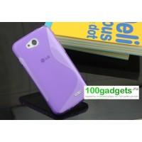 Силиконовый чехол S для LG L90 Фиолетовый