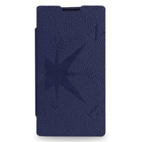 Кожаный чехол книжка горизонтальная (нат. кожа) серия Compass для Nokia Lumia 1020 Синий