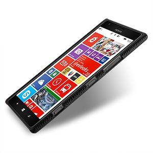 Кожаный чехол Back Cover (нат. кожа) для Nokia Lumia 1520 черный