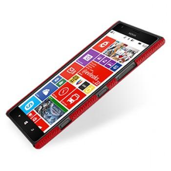 Кожаный чехол Back Cover (нат. кожа) для Nokia Lumia 1520 красный