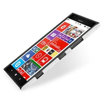 Кожаный чехол Back Cover (нат. кожа) для Nokia Lumia 1520 белый