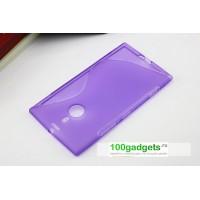 Силиконовый чехол S для Nokia Lumia 1520 Фиолетовый