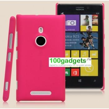 Пластиковый чехол матовый для Nokia Lumia 925 Розовый