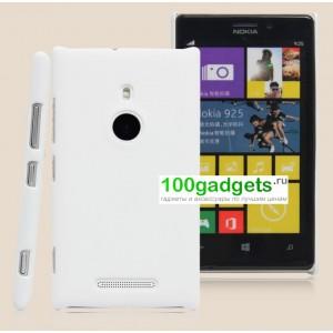 Пластиковый чехол матовый для Nokia Lumia 925 Белый