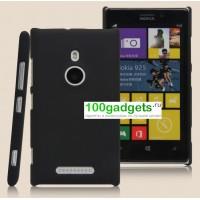 Пластиковый чехол матовый для Nokia Lumia 925 Черный