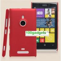 Пластиковый чехол матовый для Nokia Lumia 925 Красный
