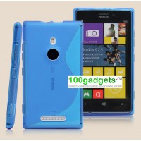 Силиконовый чехол S для Nokia Lumia 925 Голубой