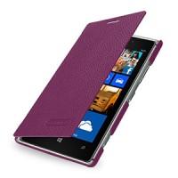 Кожаный чехол горизонтальная книжка (нат. кожа) для Nokia Lumia 925 Фиолетовый