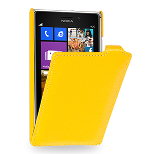 Кожаный чехол вертикальная книжка (нат. кожа) для Nokia Lumia 925