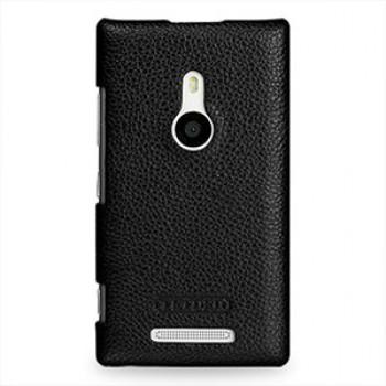 Кожаный чехол-накладка Back Cover (нат. кожа) для Nokia Lumia 925