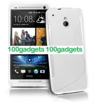 Силиконовый чехол S для HTC One Mini Белый