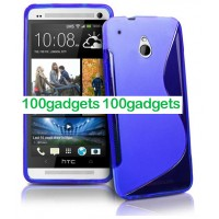 Силиконовый чехол S для HTC One Mini Синий