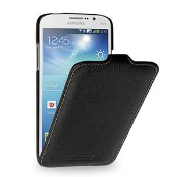 Кожаный чехол книжка (нат. кожа) для Samsung Galaxy Mega 5.8 GT-I9152 черная