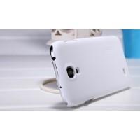 Пластиковый премиум чехол матовый для Samsung Galaxy Mega 6.3 GT-I9200 Белый