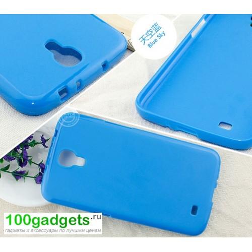 Силиконовый чехол для Samsung Galaxy Mega 6.3 GT-I9200 Голубой