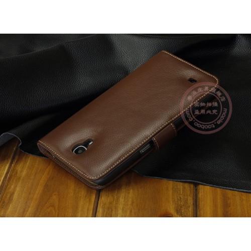 Кожаный чехол портмоне (нат. кожа) для Samsung Galaxy Mega 6.3 GT-I9200