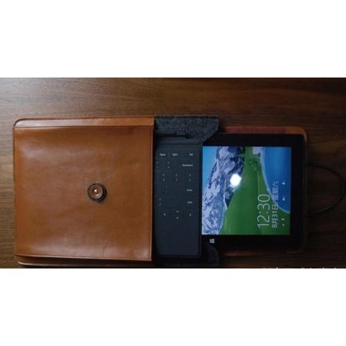 Эксклюзивный многофункциональный дизайнерский чехол мешок войлок/нат. кожа для Microsoft Surface Pro 2 Черный