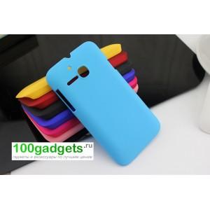 Пластиковый чехол для MTS 972 Голубой