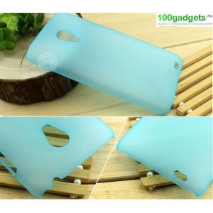 Пластиковый полупрозрачный чехол для Meizu MX3 Голубой