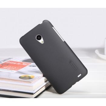 Пластиковый матовый премиум чехол для Meizu MX3 Черный