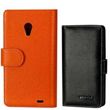 Кожаный чехол портмоне (нат. кожа) для Meizu MX2