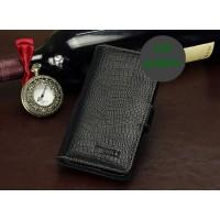 Кожаный чехол портмоне (нат. кожа крокодила) для Meizu MX3 Черный