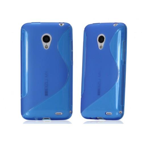 Силиконовый чехол S для Meizu MX3 Синий