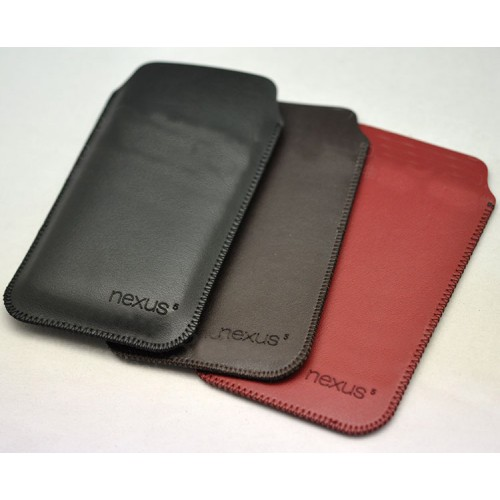 Кожаный мешок для Google Nexus 5 Черный
