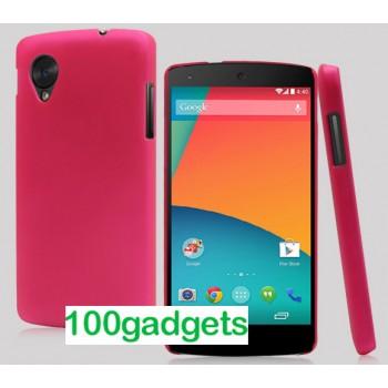 Пластиковый чехол для Google Nexus 5 Розовый