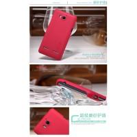 Пластиковый чехол матовый премиум для Huawei Ascend Mate Красный