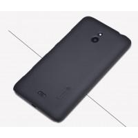 Пластиковый матовый премиум чехол для Nokia Lumia 1320 Черный