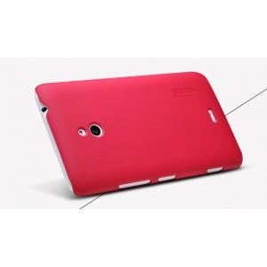 Пластиковый матовый премиум чехол для Nokia Lumia 1320 Красный